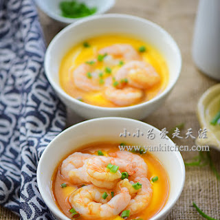Steamed Egg Custard with Shrimps