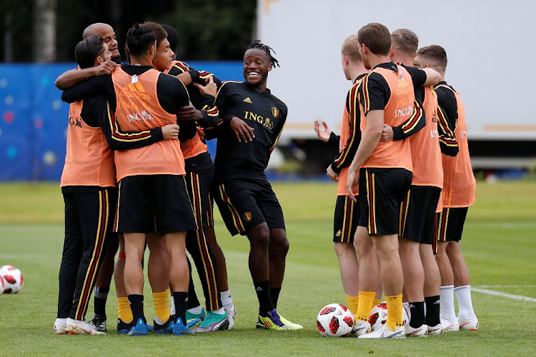 Belgium's Michy Batshuayi and team mates during training in Dedovsk, Russia, July 9 2018. Picture: REUTERS