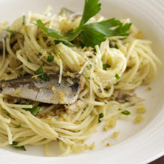 Sardine and Garlic Breadcrumb Spaghettini