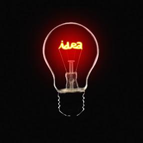 Idea Bulb by Kris Hartanto - Artistic Objects Other Objects ( idea, bright, bulb, lamp, light )