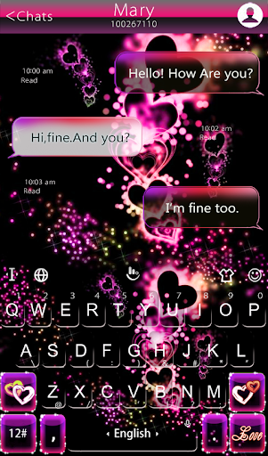 mod Sparkling Heart Keyboard Theme  screenshots 2