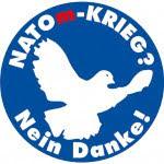 Button: Friedenstaube «Natom-Krieg? Nein danke!».