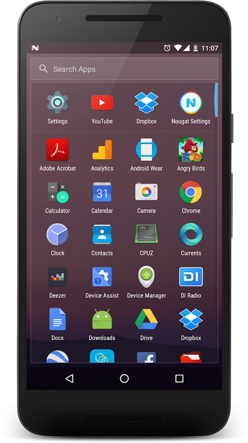 Nougat Launcher- screenshot