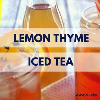 Lemon Thyme Iced Tea