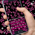 Neon Butterflies Keyboard icon