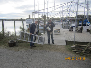Photo: Bill and Jim doing dock work.
