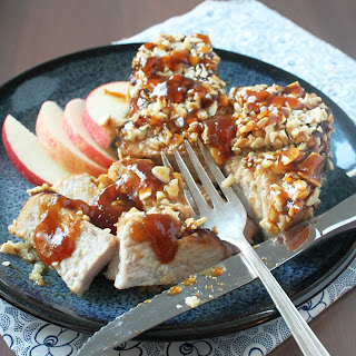 Almond Crusted Pork Chops with Sweet and Sour Apricot Glaze