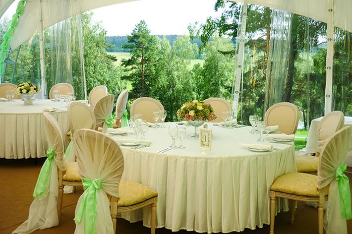 Фото №4 зала Малая поляна с банкетным шатром