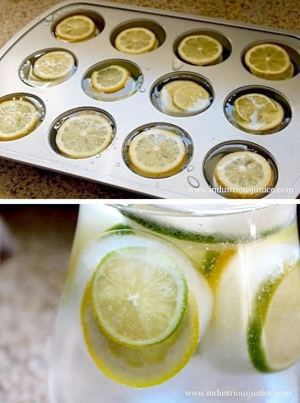 Hint: I always make lemonade ice cubes, that way when the ice cubes melt...