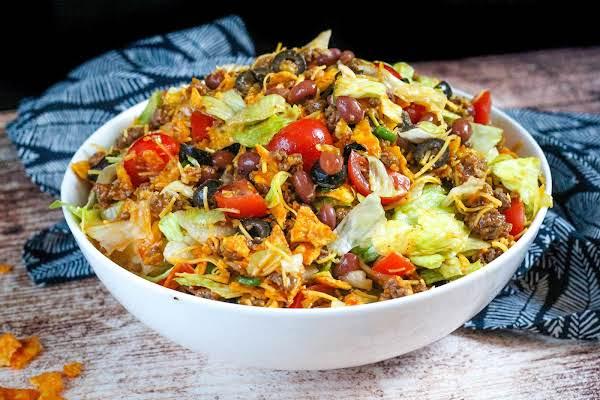 Dorito Taco Salad Ready To Serve.