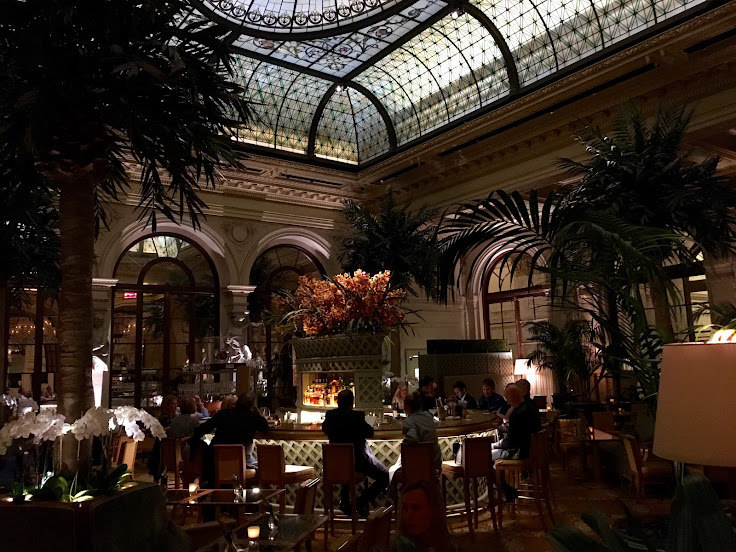The elegant Palm Court at the Plaza Hotel.