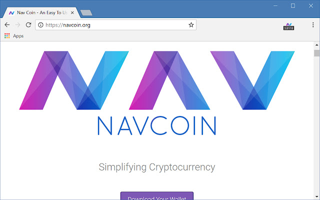 Simple NAVCoin Ticker