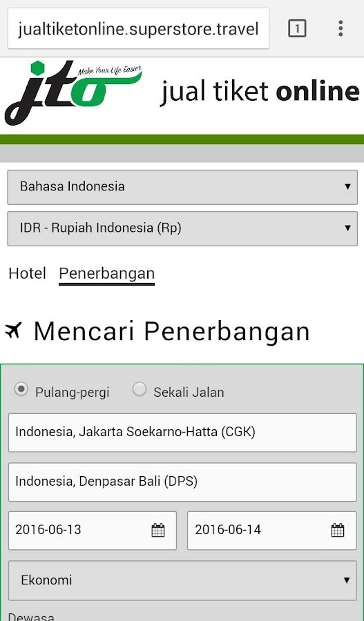 Jual Tiket Online- screenshot