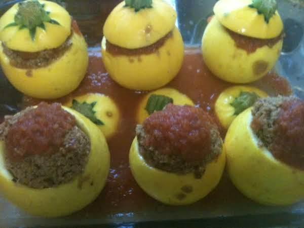 Stuffed Cannonball Yellow Squash Recipe