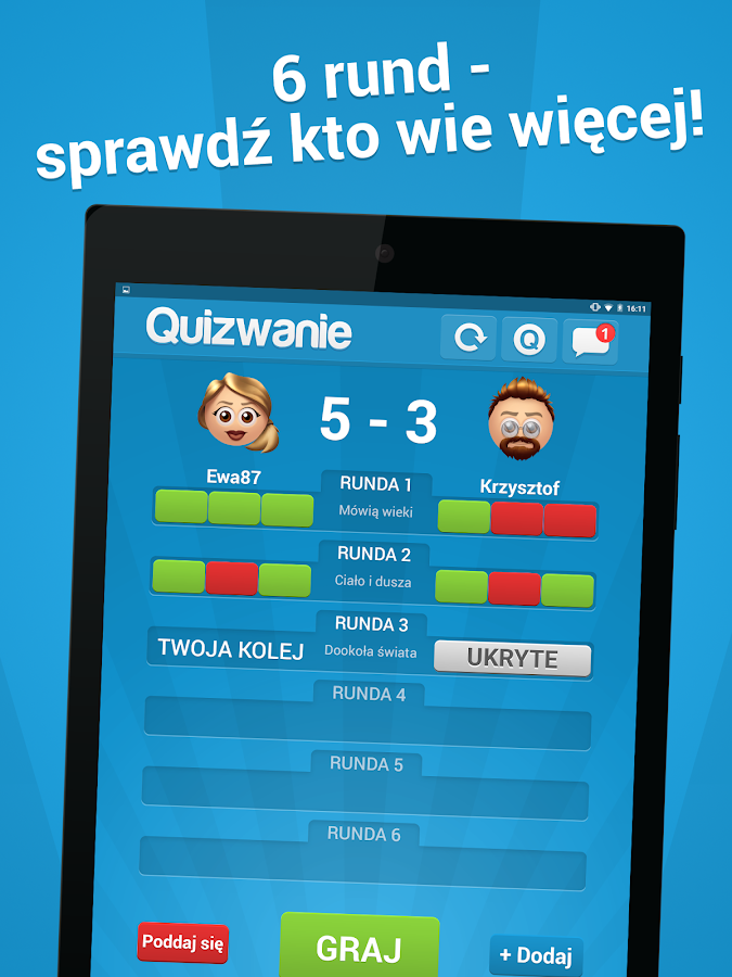 Quizwanie- screenshot