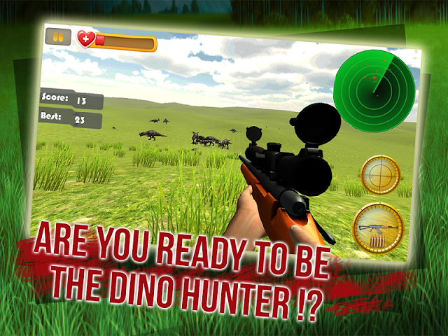 android Dino Sniper Jurassic World 3D Screenshot 1