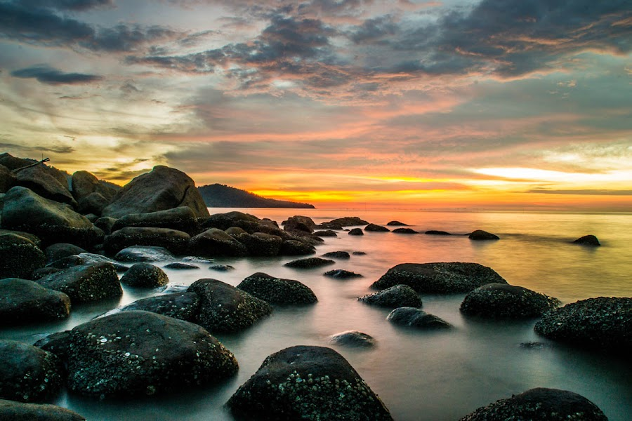 the crocodile by Vazrul Saltiani - Landscapes Sunsets & Sunrises ( waterscape, sunsets, sunset, singkawang, landscape )
