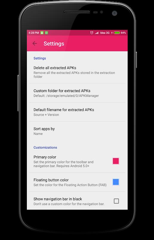 Android App/APK extractor screenshots