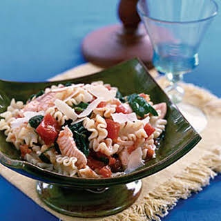 Pasta with Salmon and Spinach.