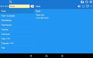 Screenshot of Russian German Dictionary Free