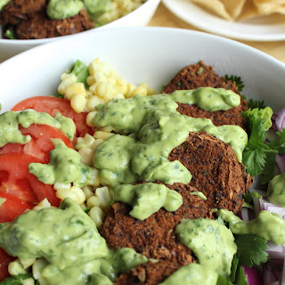 Southwestern Salad with Black Bean Falafel Recipe