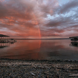 Finger Lakes Rainbow by Thomas Nicola - Buildings & Architecture Other Exteriors ( rainbow, lake cayuga, finger lakes,  )