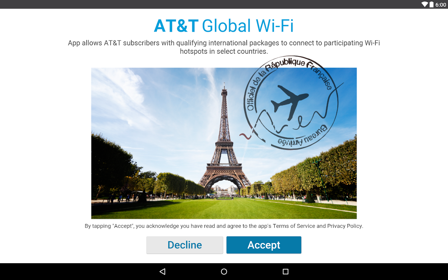 AT&T Global Wi-Fi- screenshot