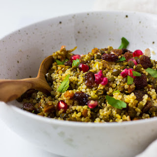 Moroccan Style Puy Lentil and Quinoa Salad
