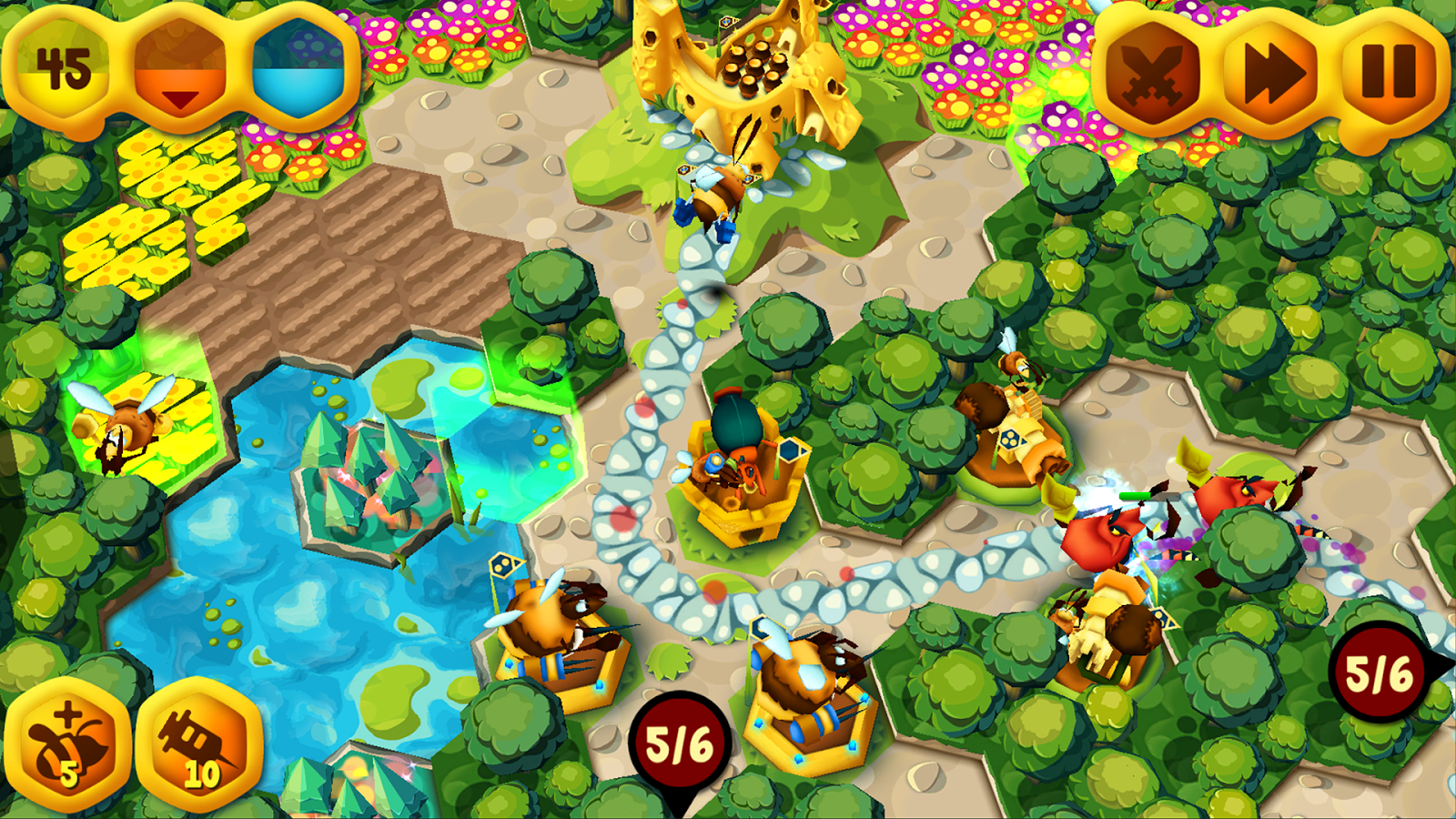 BeeFense F2P - Tower Defense- screenshot