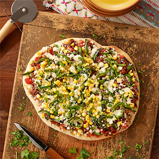 Grilled Mexican Pizza with Chorizo.