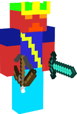 The skin that Joshua uses as he plays as Charged Warrior. Charged Warrior was long ago born when a lightning bolt struck Steve.