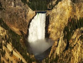 Photo: The Lower Falls of the Yellowstone are 308 feet high, twice as high as Niagara Falls