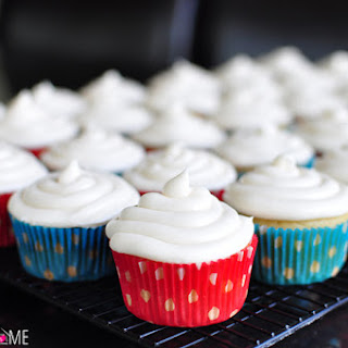 Best Ever Vanilla Texas Sheet Cake Cupcakes with Cream Cheese Frosting.