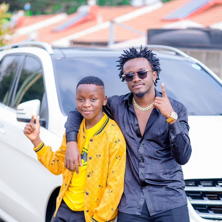 Morgan with Bahati