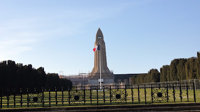 Photo: Duamont Ossuary where the remains of both French and German soldiers are interred.