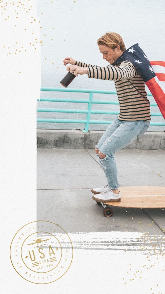 Fourth of July Longboard - Facebook Story Template