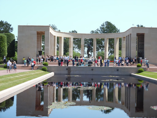 Normandy-memorial-1 - Visitors at the Normandy American Cemetery and Memorial. It was a moving experience.