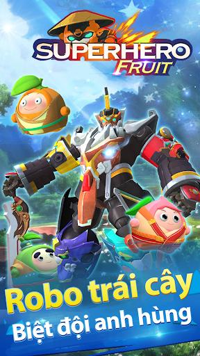 Robo trái cây biệt đội anh hùng trong game Siêu Nhân Trái Cây