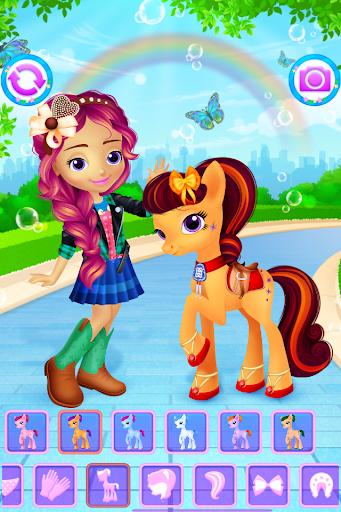 Pony & Girl Dress Up filehippodl screenshot 1