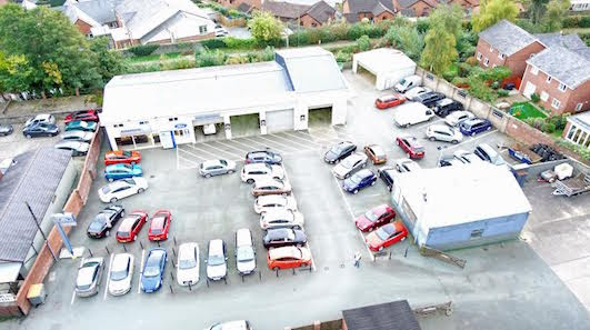 Garage site on the market