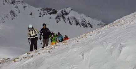 Photo: Heading towards the sun and away from the dark clouds in Tignes