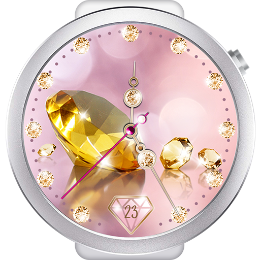 Diamond Gold Watch Face Icon