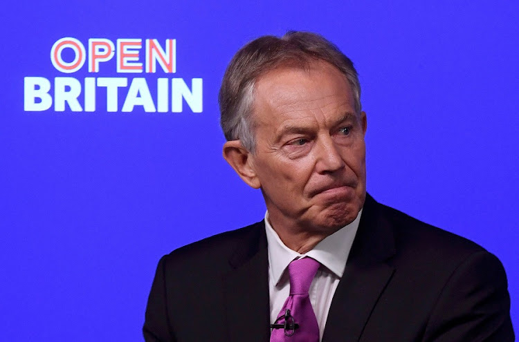 Former British prime minister Tony Blair delivers a keynote speech at a pro-Europe event in London, Britain, on Friday. Picture: REUTERS/TOBY MELVILLE