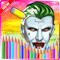 Suicide Joker Game Coloring icon