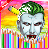 Suicide Joker Game Coloring