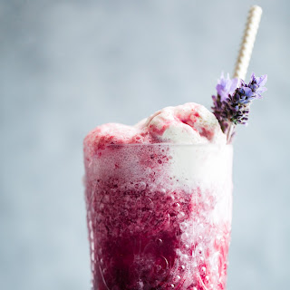 Lavender Earl Gray Blackberry Ice Cream Floats {Vegan}