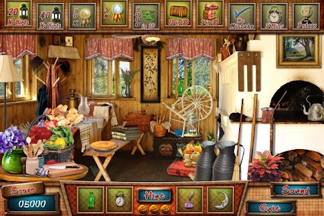 # 284 Free Hidden Object Games Cabin in the Woods - náhled