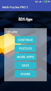 Math puzzles PRO 2 Screenshot