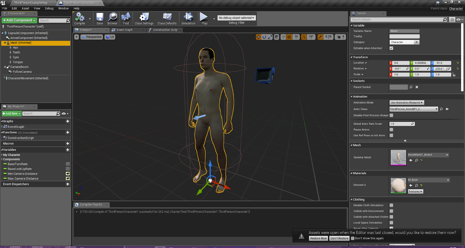 Rigging the Make Human mesh to the Epic Skeleton in Blender the