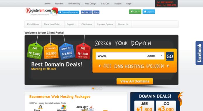 Registeram web host in Nigeria, #1 pick local host